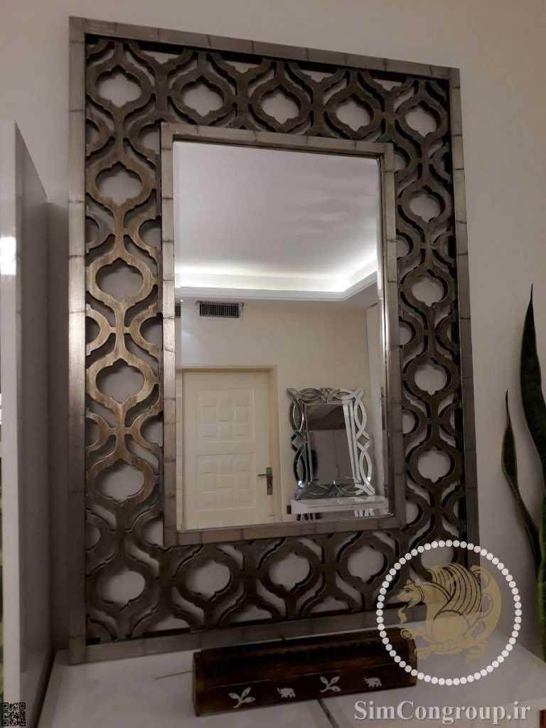 آینه دکوراتیو برنزی