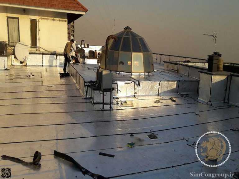 ایزوگام عایق حرارتی پشت بام