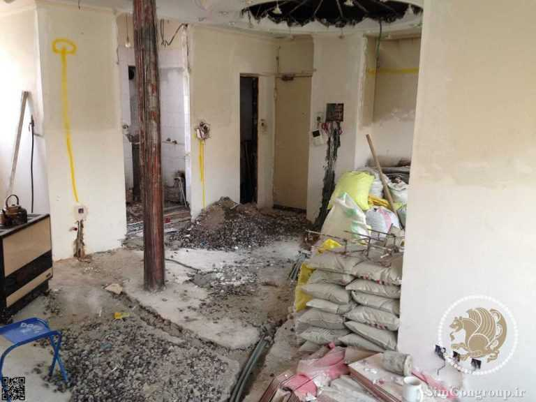قبل از برقکشی ساختمان