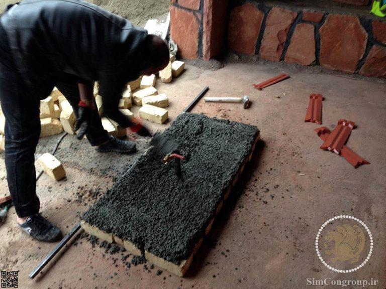 بنایی با آجر و ملات ماسه سیمان