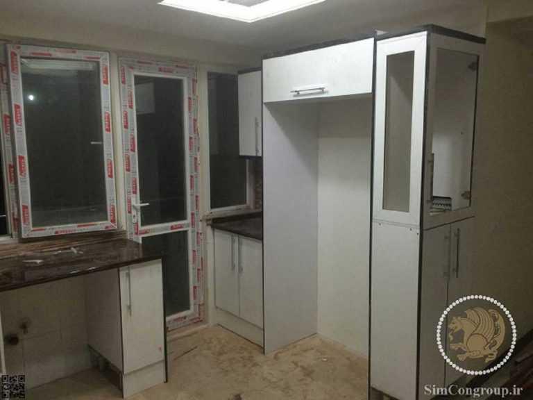 یخچال در کابینت آشپزخانه