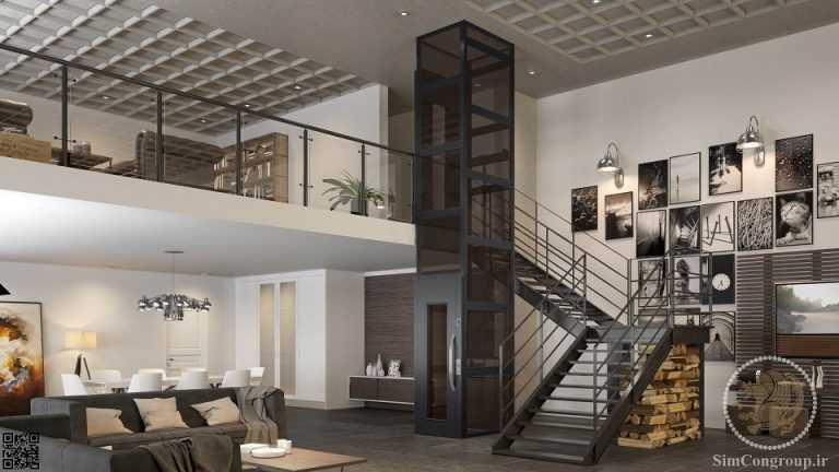 خدمات ساختمانی آسانسور داخلی و بالابر