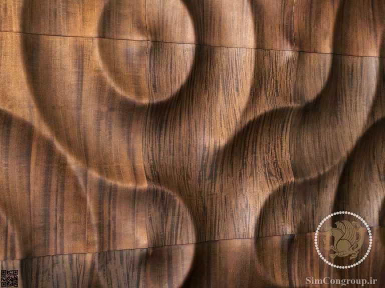 دیوارپوش با روکش چوب گردو