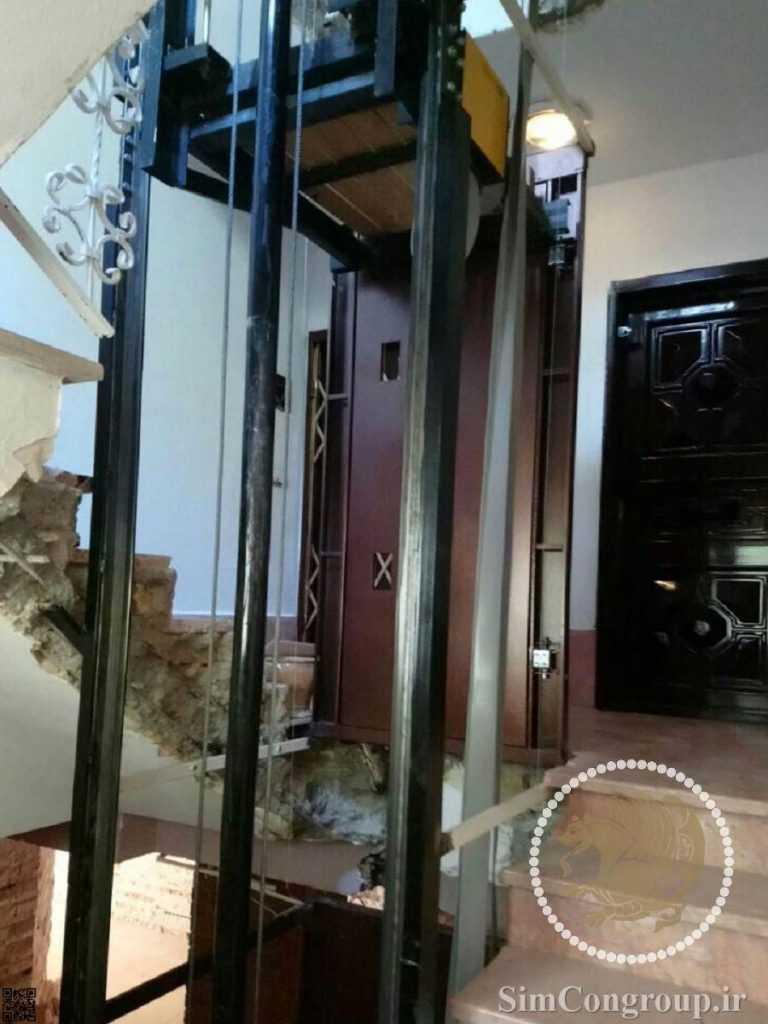 ساخت آسانسور داخلی ساختمان در راه پله