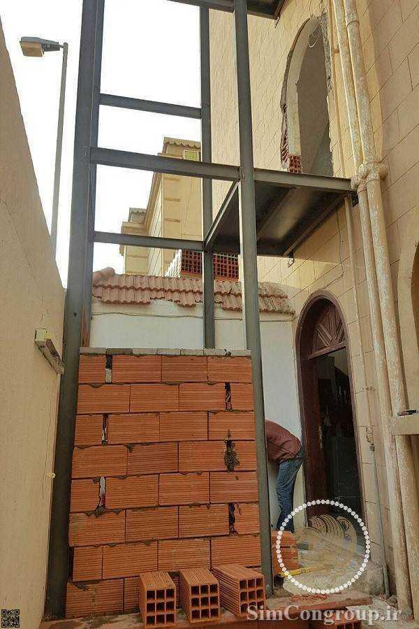 ساخت آسانسور در نمای ساختمان