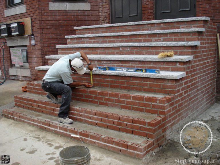 استفاده از آجر برای ساخت راه پله و رمپ