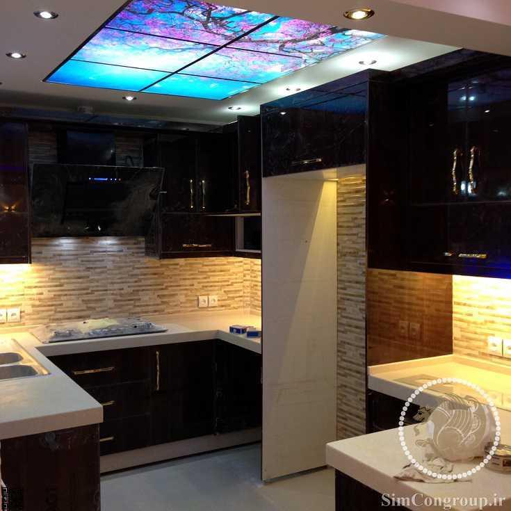 سقف آسمان مجازی آشپزخانه لاکچری