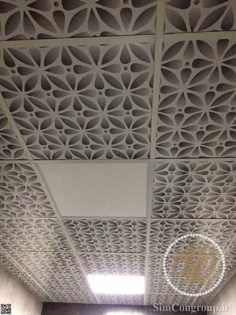 سقف کاذب حمام گلدار