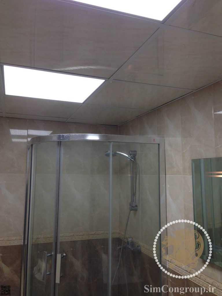 سقف کاذب دستشویی و حمام سفید براق