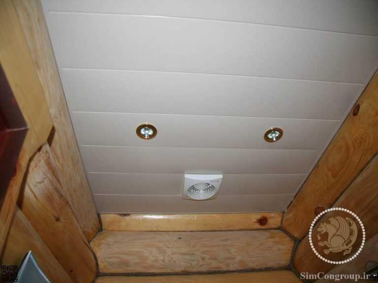 سقف کاذب دستشویی با تایل طولی