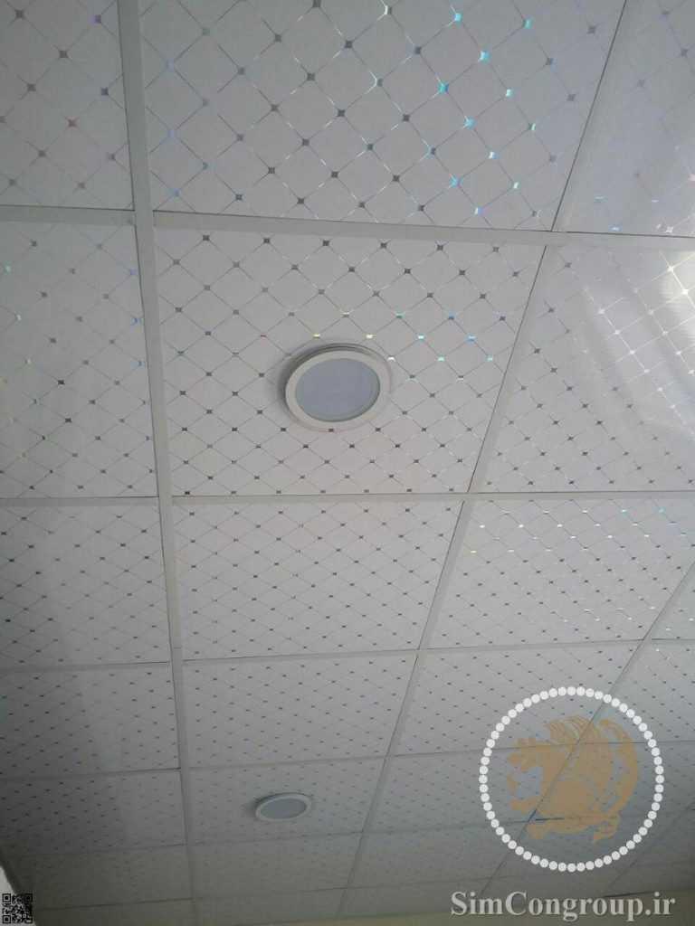 سقف کاذب پی وی سی سفید نقطه دار