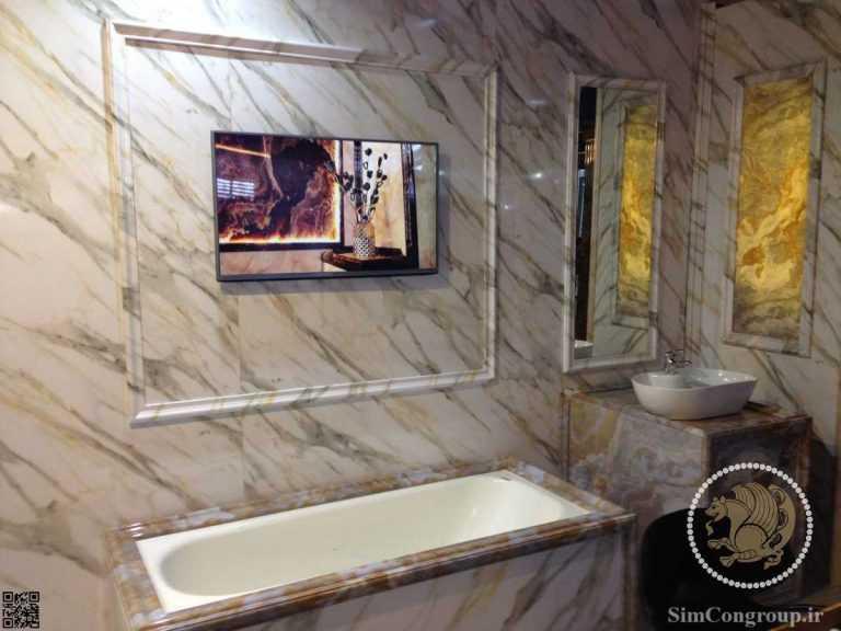 سنگ مصنوعی حمام و دستشویی