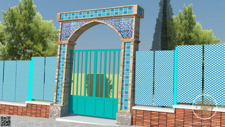 طراحی سر در نمایشگاه با معماری اسلامی