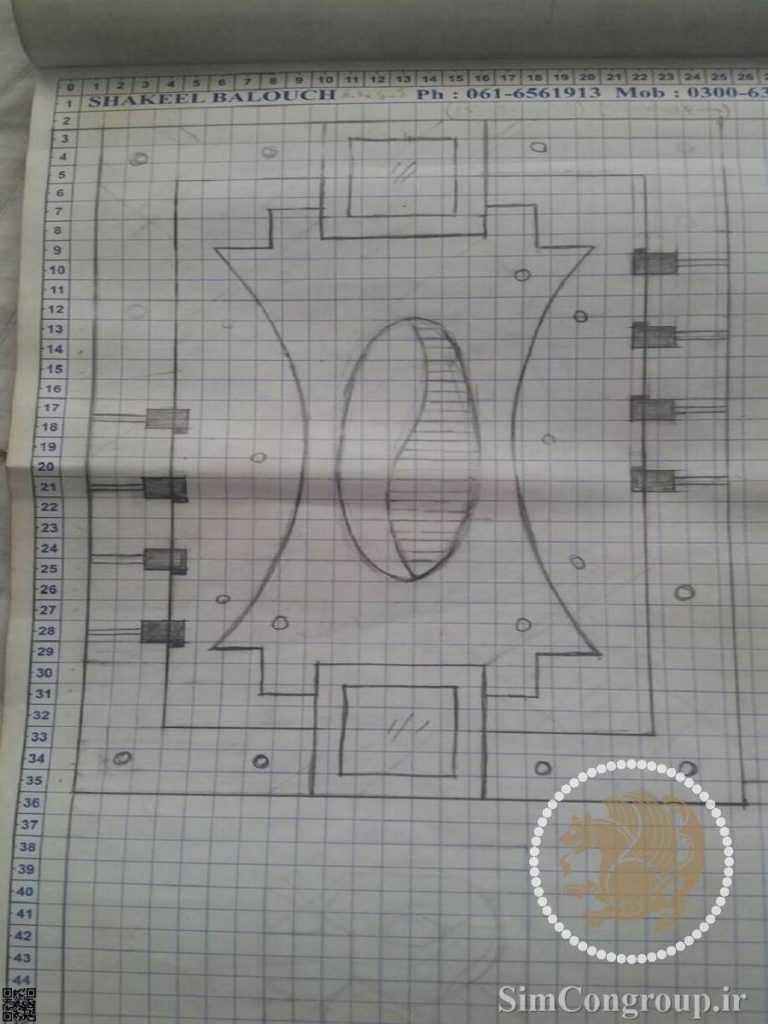 طراحی سقف کناف بر روی کاغذ پیش از اجرا