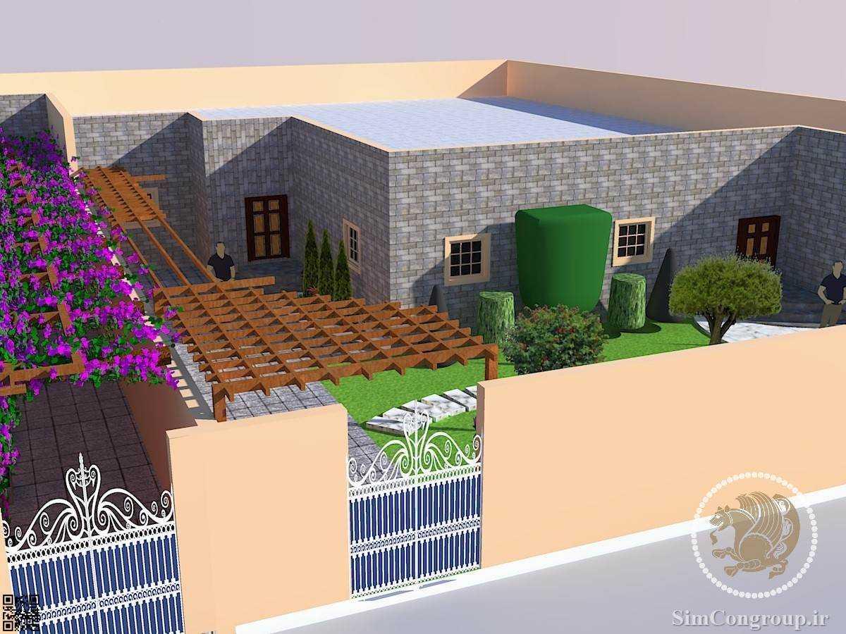 طراحی سه بعدی باغ