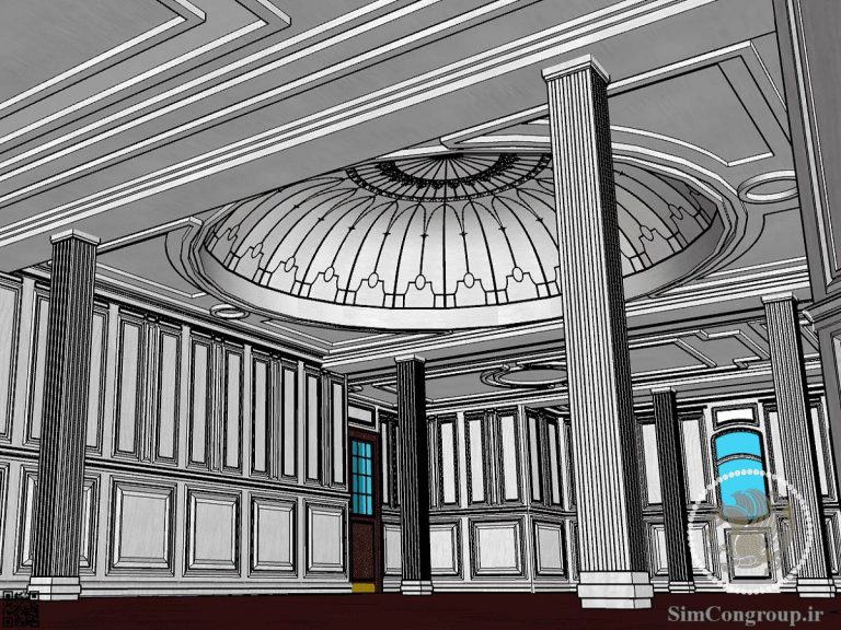 طراحی گچبری سقف لابی