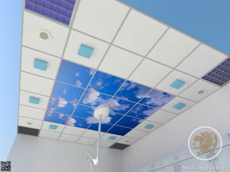 طراحی سقف کاذب و آسمان مجازی