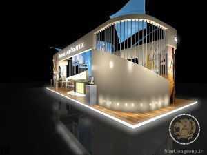طراحی سه بعدی غرفه نمایشگاهی