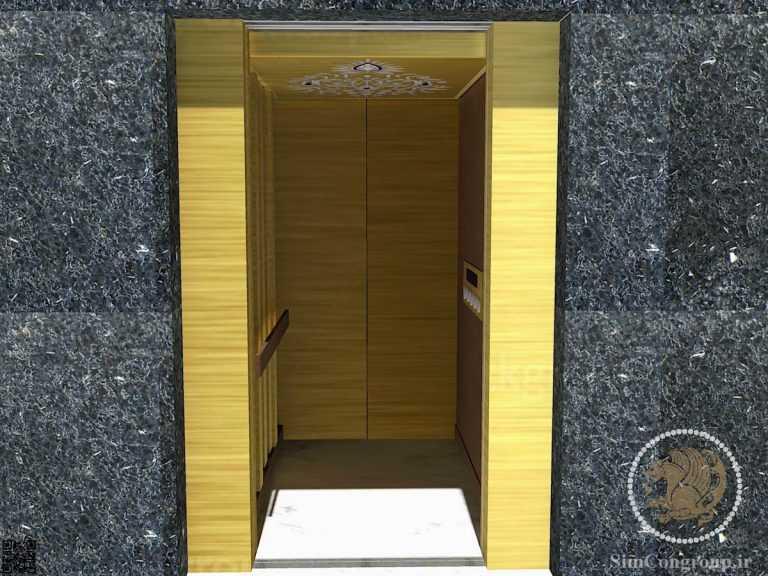 طراحی سه بعدی کابین آسانسور منزل