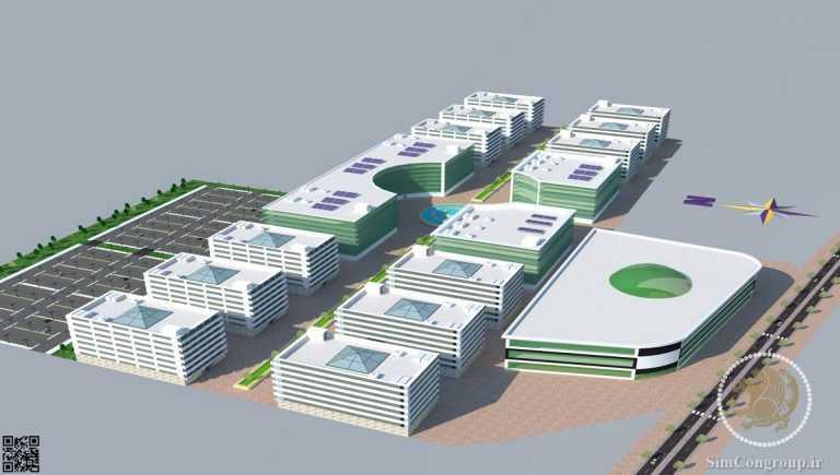طراحی سه بعدی و جانمایی مجتمع تجاری