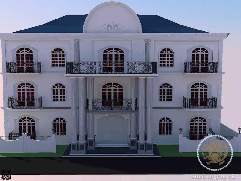 طراحی نمای رومی ساختمان