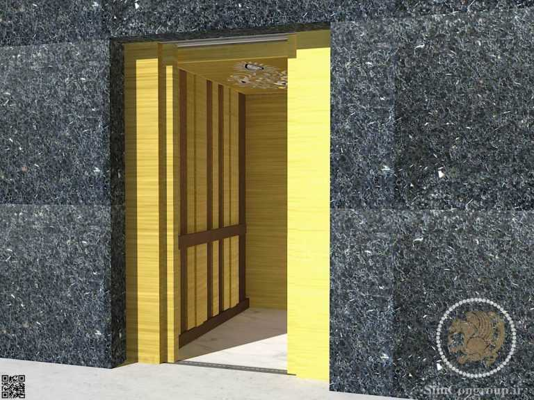 طراحی کابین آسانسور داخلی ساختمان