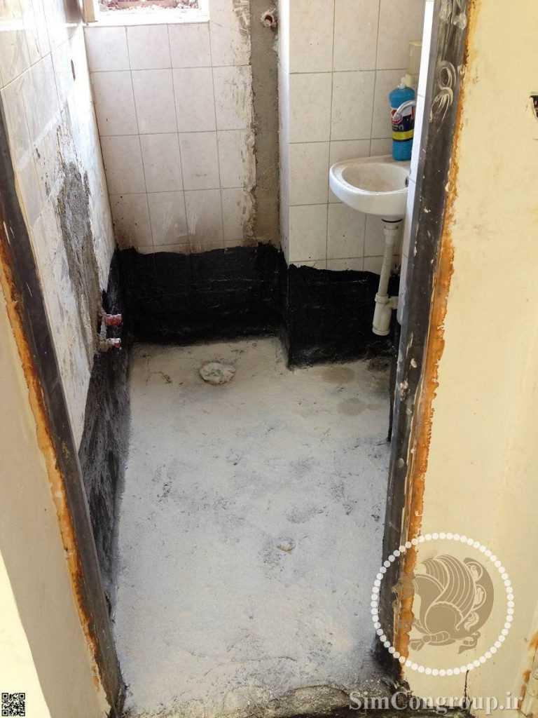 قیرگونی مهندسی دستشویی
