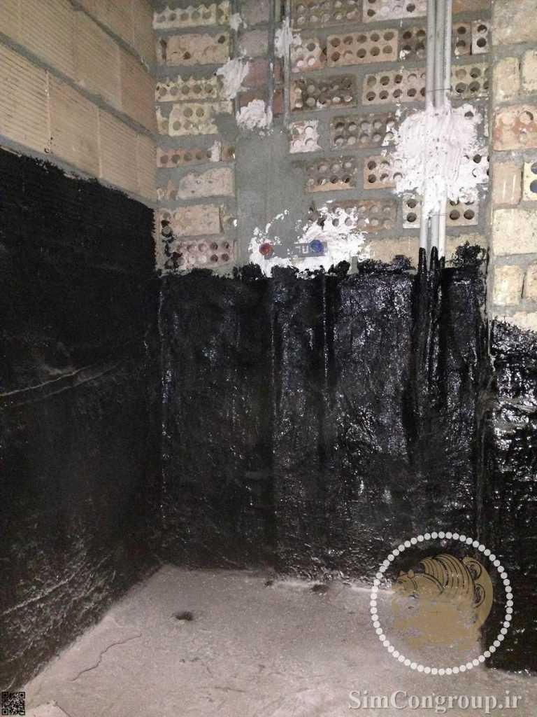 قیرگونی مهندسی کف حمام