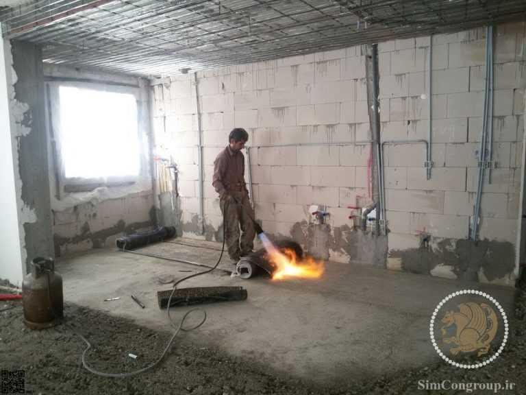 پهن کردن ایزوگام آشپزخانه
