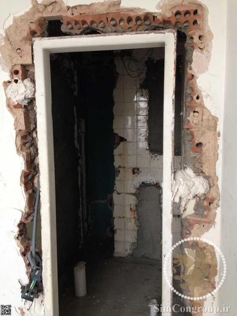 نصب چهارچوب فلزی درب