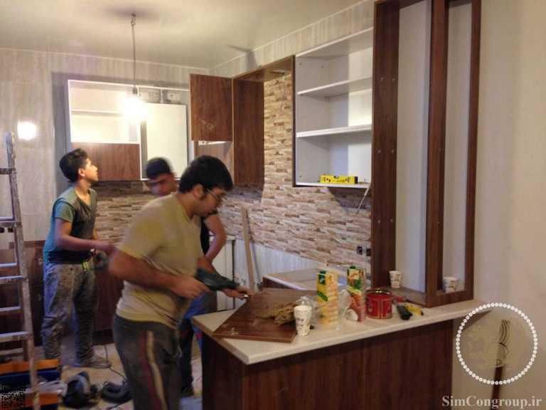 نصب کابینت ام دی اف آشپزخانه