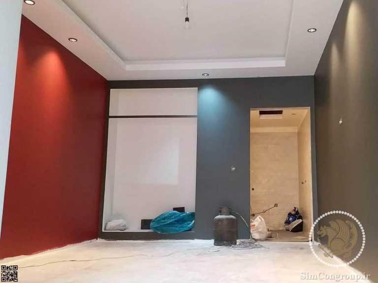 نقاشی رنگی دیوار اتاق خواب