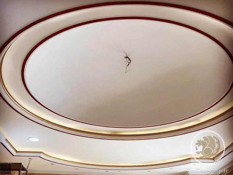 نقاشی گنبد گچ کاری شده سقف