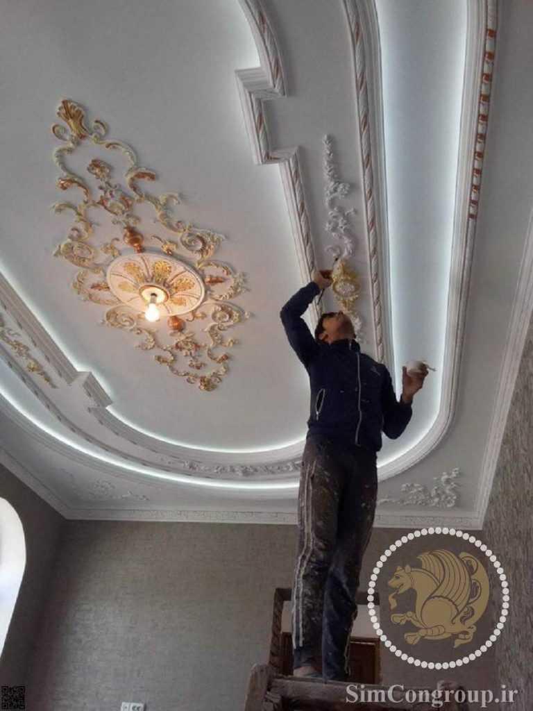 نقاشی سقف هال و پذیرایی