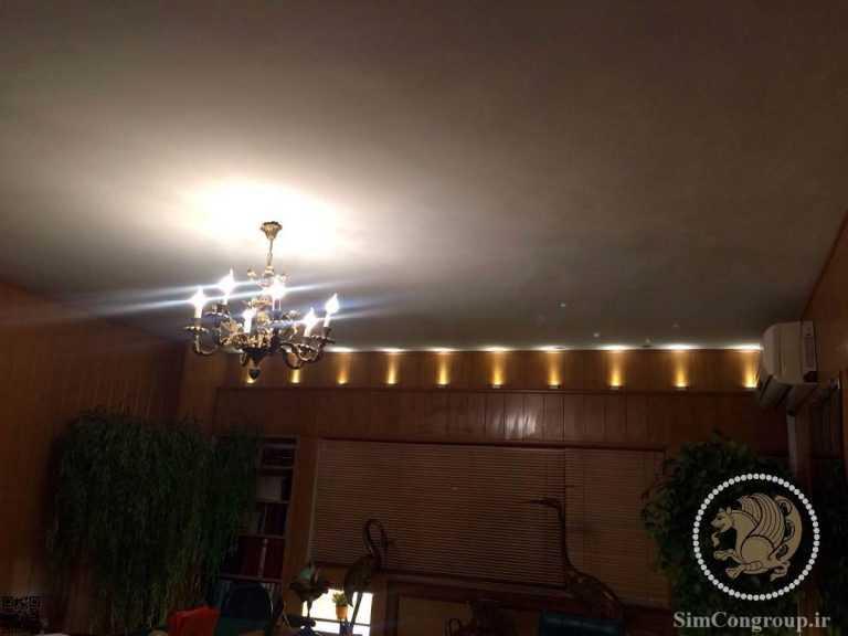 نورپردازی سقف اتاق اداری