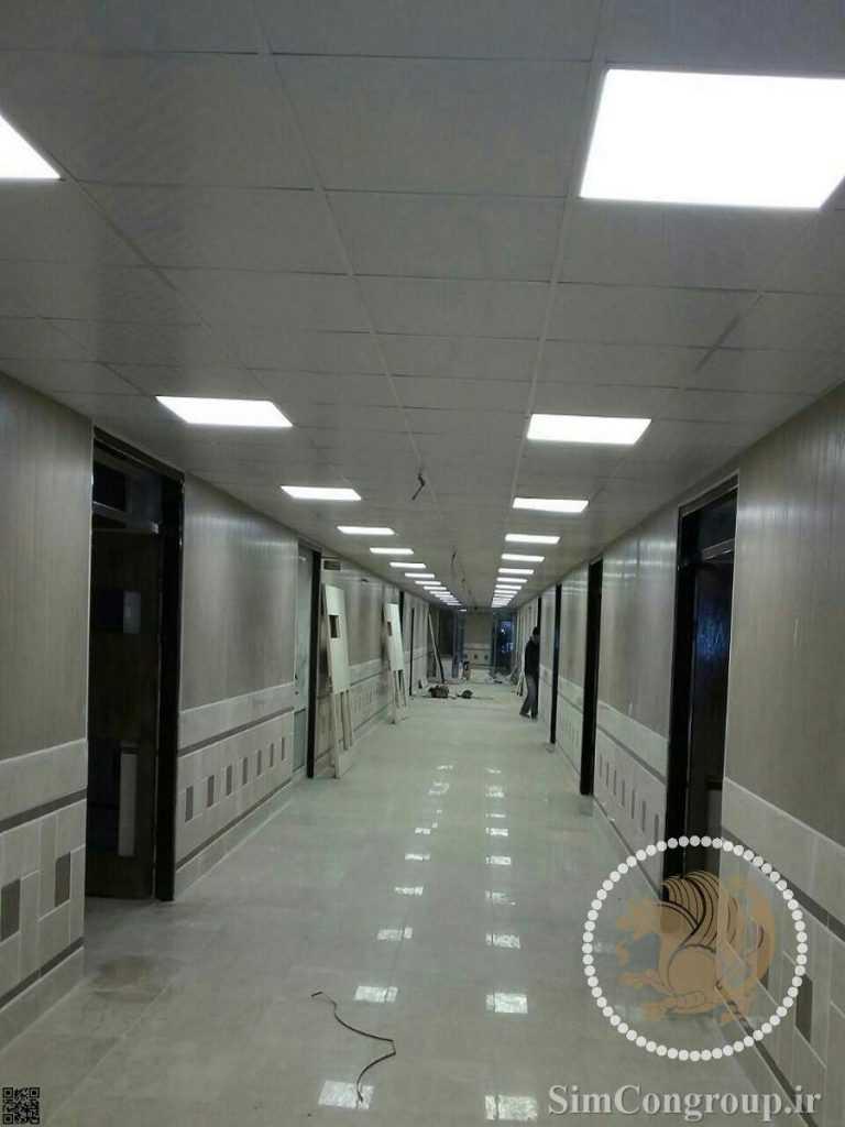 نورپردازی سقف کلاس دانشگاه