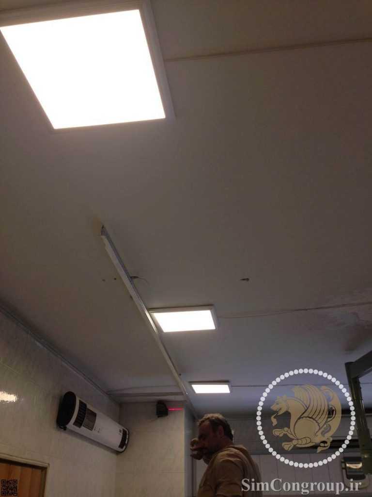 نورپردازی با چراغ سقفی مطب پزشک