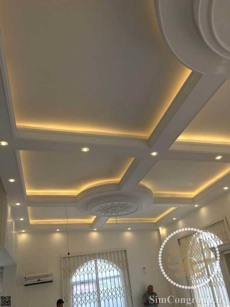 نورپردازی سقف گچ کاری شده منزل