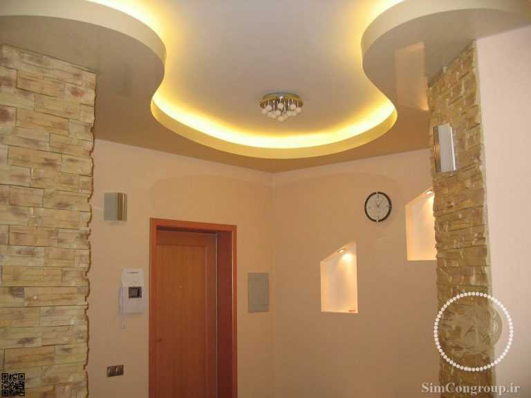 سقف کناف با نور مخفی منزل