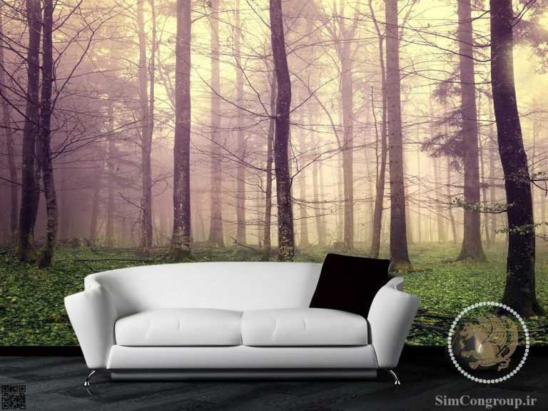 پوستر کاغذ دیواری جنگل و درخت
