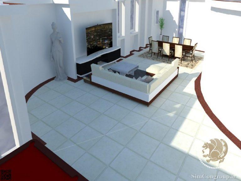 طراحی سه بعدی چیدمان منزل