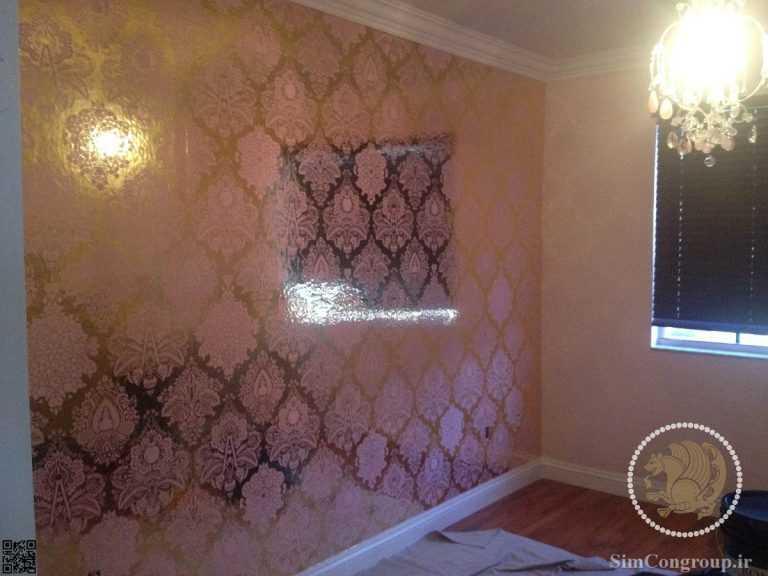 کاغذ دیواری آینه ای پذیرایی و اتاق خواب