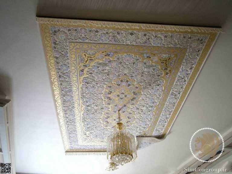 دور لوستری فرش ایرانی