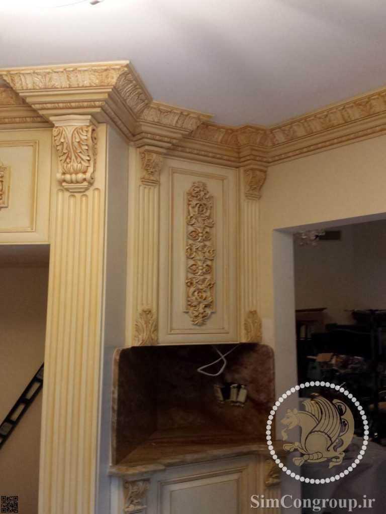 گچبری سقف و دیوار منزل