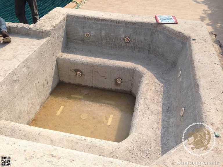 آب بندی جکوزی روباز