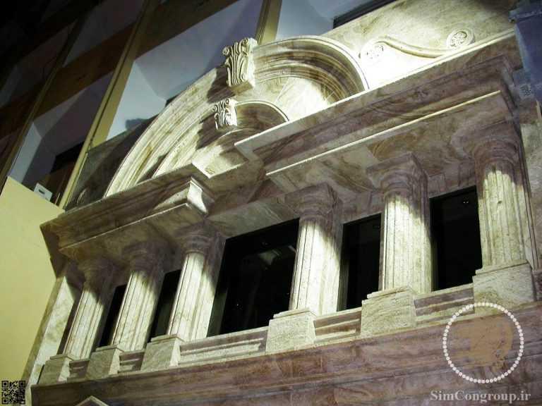 بازسازی نمای رومی ساختمان