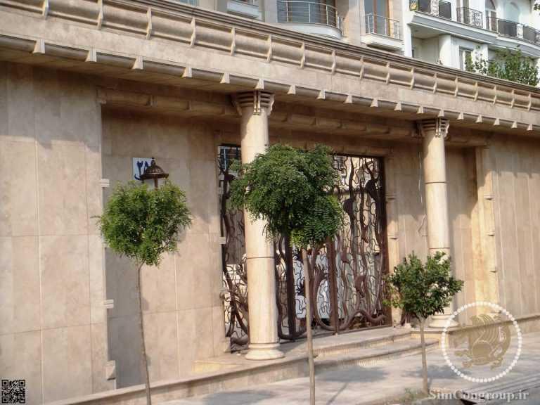 بازسازی نمای ورودی ساختمان