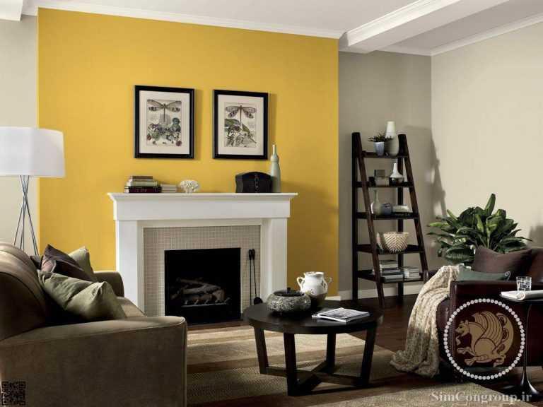ترکیب زرد و سفید در رنگ خانه