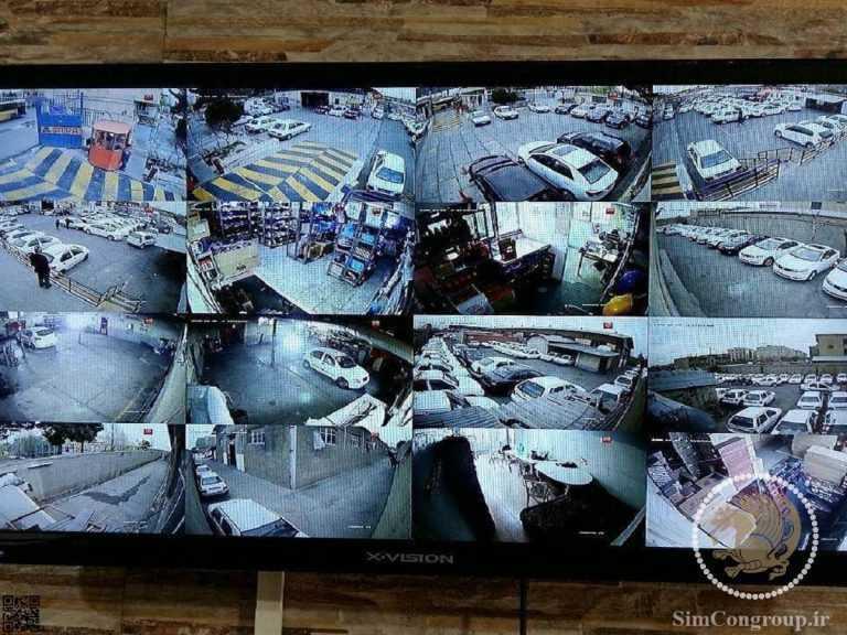 تصاویر دوربین مدار بسته در مانیتور