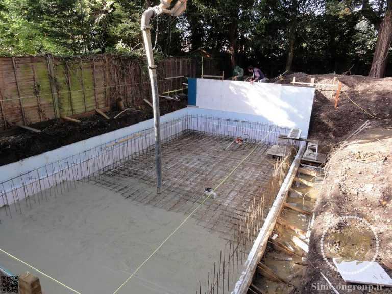 ساخت استخر باغ با بتن مسلح